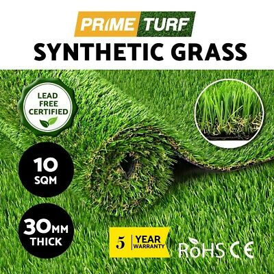 10SQM Synthetic Turf Artificial Grass Plastic Plant Fake Lawn Flooring 30mm