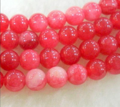 """8mm Natural Red Ruby Round Loose Beads Gemstone 15"""""""