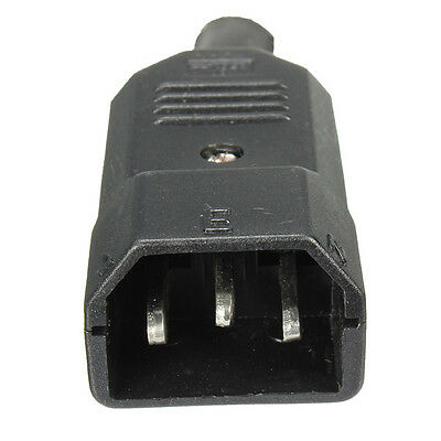 IEC 320 C14 Male Plug Rewirable Power Connector Adapter 3pin Socket 10A/250V
