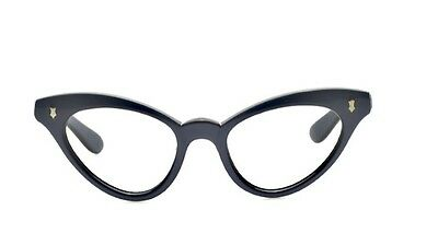 "Schicke blau graue 50s ""cat-eye"" Damen Brille K20K"