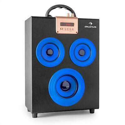 Top Auna Central Park Bluetooth Party Lautsprecher Ukw Radio Usb Sd Aux In Blau