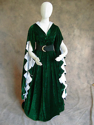 PLUS SIZE RENAISSANCE Medieval Dress SCA Ren Faire Game of Thrones ...