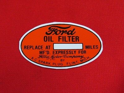1935-48 Ford oil filter decal  flathead accessory   DCL5