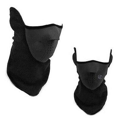Warm Neck Face Mask Paintball Bicycle Motorcycle anti cold Mask Black free P&P
