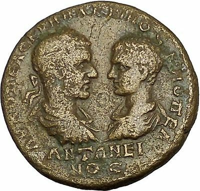 MACRINUS and DIADUMENIAN 218AD Marcianopolis Moneta Ancient Roman Coin  i39787