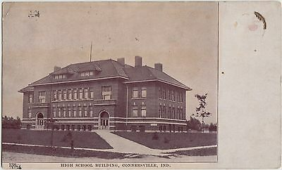 Indiana In Postcard 1910 CONNERSVILLE High School Building
