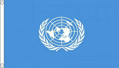 United Nations Flag 5 x 3 FT - 100% Polyester With Eyelets - UN