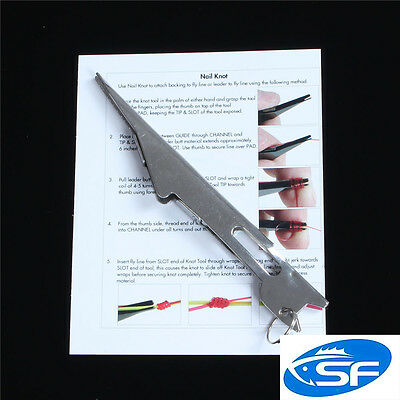 SF Knot Tying Tool Tyer Tie Fly Fishing Line Fast  with Instructions Stream Side