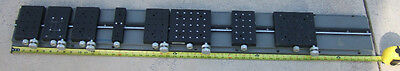PRECISION RESEARCH OPTICAL LONG BENCH WITH SLIDING STAGES / RARE