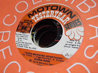 Diana Ross 45 Good Morning Heartache/Touch Me in the Morning Motown Yesteryear