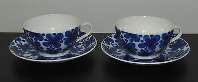 Antique Rorstrand Mon Amie Cups and Saucers - Marianne Westman Design - 2 Sets
