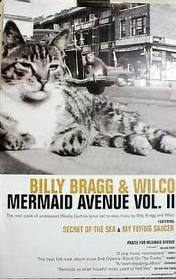 Billy Bragg & Wilco 2000 mermaid ave.vol2 promotional poster New Old Stock
