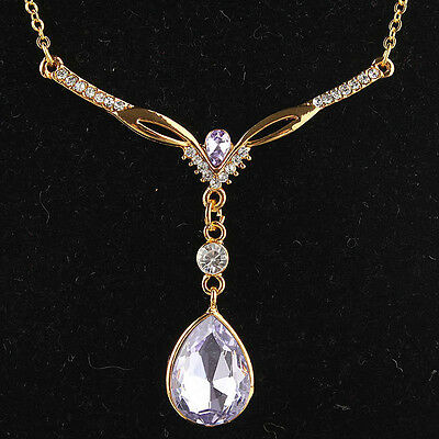 Brilliant Austrian Crystal Gold Filled Women's  Necklace pendant ND0493