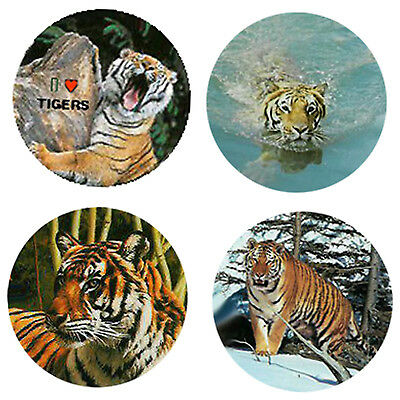 Tiger Magnets: 4 Way- Cool Tigers for your Fridge or Collection-A Great Gift