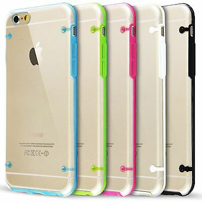 "FUNDA BUMPER CARCASA SILICONA para Apple iPhone 6 6S 4.7"" Transparente Ultrafina"