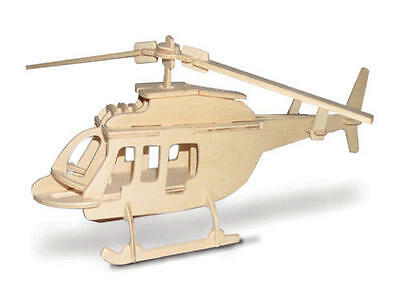 Helicopter 3D Wooden Modelling Kit Model Jigsaw Puzzle