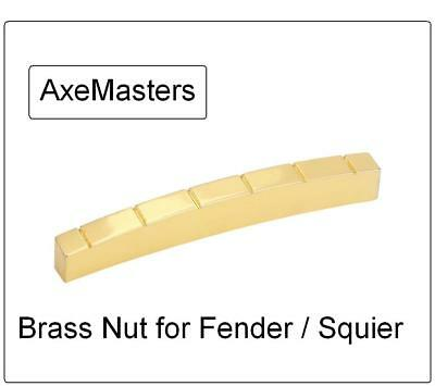 "USA MADE AxeMasters 1 5/8"" / 41mm MALMSTEEN BRASS NUT made for Fender Guitar"