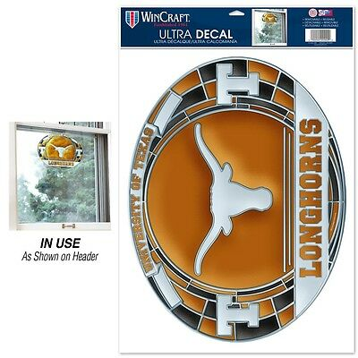 "Texas Longhorns Stained Glass NCAA 11"" x 17"" Ultra Decal"