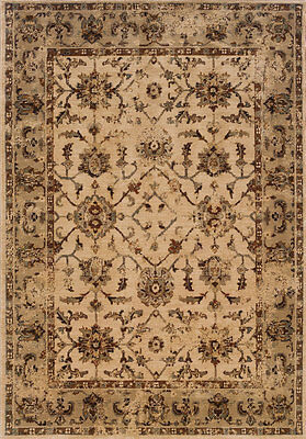 "2x8 Sphinx Persian Oriental Ivory 1376E Bordered Area Rug - Approx 1'10"" x 7'6"""
