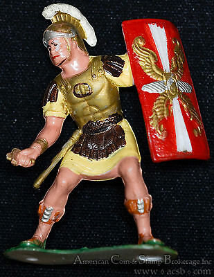 Louis Marx 60mm Warriors World Roman Soldier missing sword hand painted.