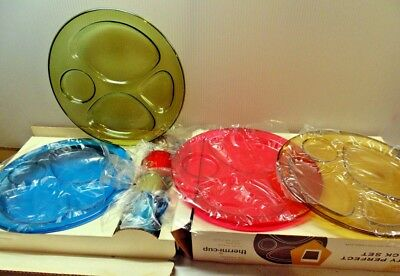 Mid Century Vintage Better-Maid Thermal Cup Party Perfect Plastic Snack Set NIB