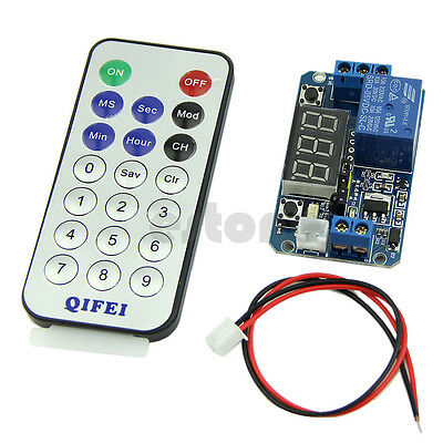 Digital LED Display Programmable Timer Relay Module 5V + IR Remote Controller