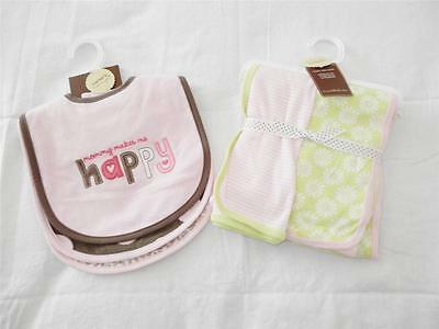 New Girl's Carter's Bibs and Blanket Sets - NWT