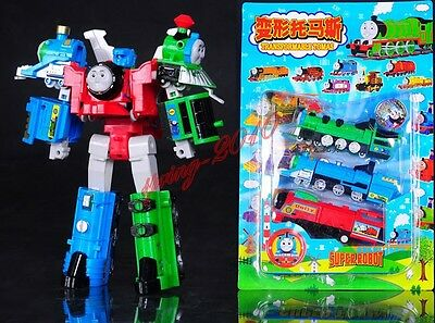 "Thomas The Train Transformer ""Super Thomas"" Voltron Devastator Tank Engine A0764"