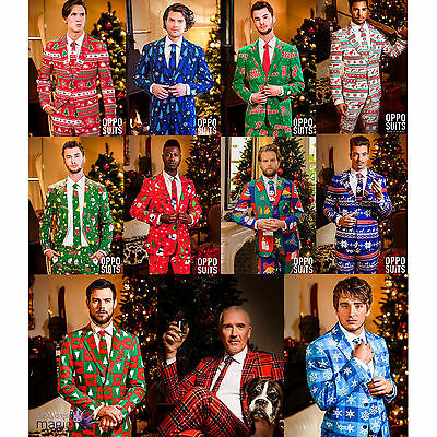 *Mens Deluxe Festive Novelty Christmas Opposuit Fancy Dress Costume Outfit Suit*