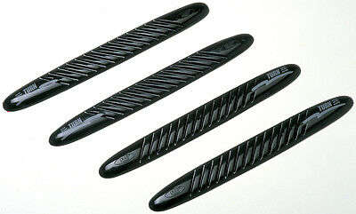 Sumex Car 3M Adhesive Front & Back Black Bumper Scratch Protection Guards -4 Pcs