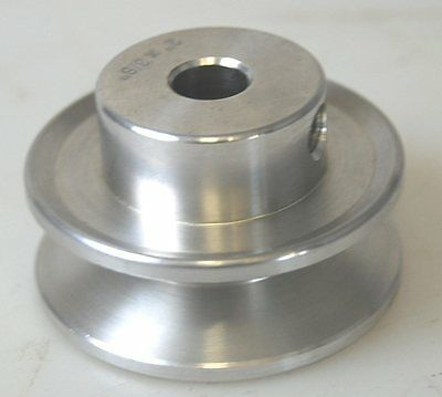 """Aluminium pulley - single groove - A Section for 1/2"""" (13mm) belt"""