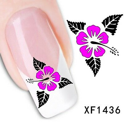 Nail Art Tip Water Transfers Sticker DIY Decal XF1436