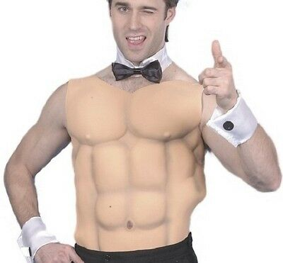 Mens Adult Male Fancy Dress EVA Muscle Chest & Abs Panel New by Smiffys