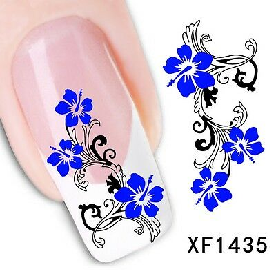 Nail Art Tip Water Transfers Sticker DIY Decal XF1435