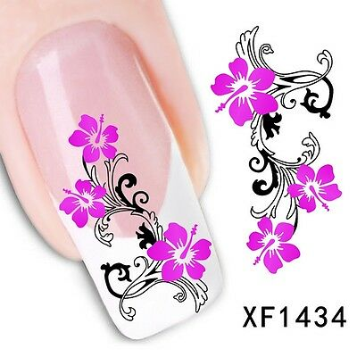 Nail Art Tip Water Transfers Sticker DIY Decal XF1434