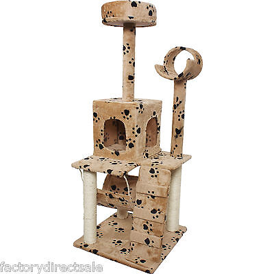 """52"""" Cat Kitty Tree Tower Condo Furniture Scratch Post Pet House Toy Bed Paws"""
