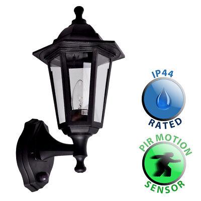 Outdoor Traditional Style Wall Lantern with PIR Sensor Garden Patio Lamp Light