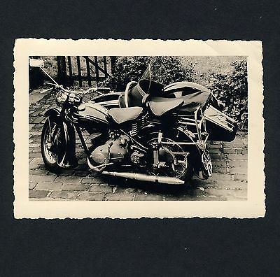 Mororrad ADLER M200 GESPANN Motorcycle Combination * Private 50s Photo