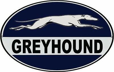 Nostalgic  Greyhound Bus Reproduction Metal Sign Oval