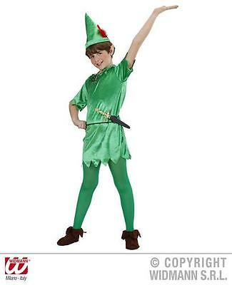 Childrens Peter Pan Fancy Dress Costume Never Land Fairy Tale Outfit 128Cm