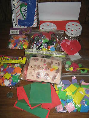 MIXED LOT OF ART FOAM CUT OUTS & SCRAPS FOR CRAFTS