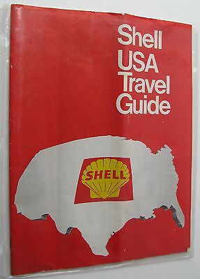 1968 Shell Gasoline USA Travel Guide, 32-pages, Sheraton Hotels, Maps of U.S.