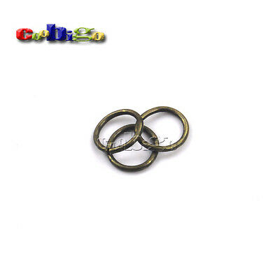 """50pcsMetal O Ring 3/8""""(9.4mm)Inner Dia. Non Welded Connection Key Chain Key Ring"""