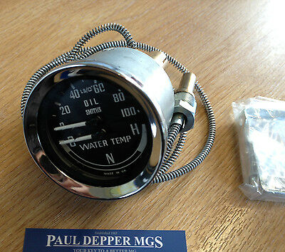 MG MGB Smiths Dual Gauge 1969-1976 Water/ Oil Temperature Gauge BHA4900