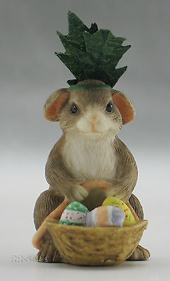 Charming Tails Bunny Imposter Easter Egg Figurine Fitz & Floyd Retired 89/609