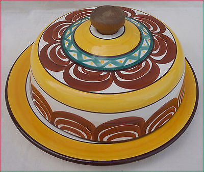 Vintage Large Covered Dish French Faience MBFA Quimper 1950