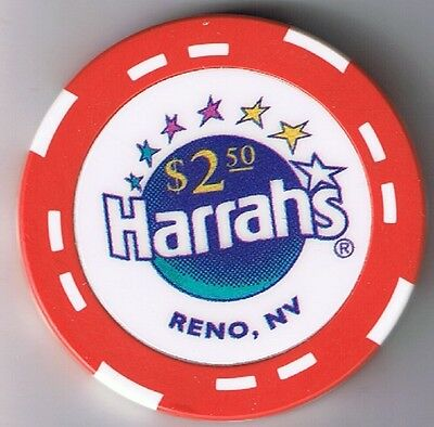 Harrah's $2.50 Casino Chip Reno Nevada 1996