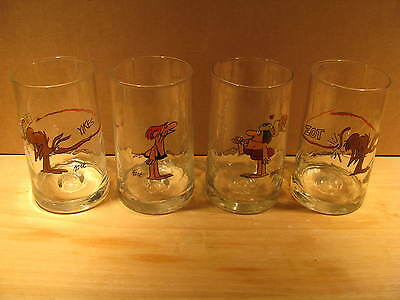 ARBY'S BC GLASSES SET OF 4