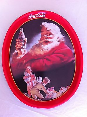 """COCA COLA- Santa Tray 1993 """"The gift for thirst"""" - Showing 1952 Scene:Collectibe"""