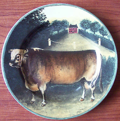 """1995 Block Country Farm - by Gear Salad Plate 8"""" - Cow"""